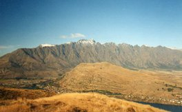 The Remarkables bei Queenstown, Neuseeland