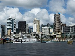 Viaduct Harbour in Auckland, Neuseeland